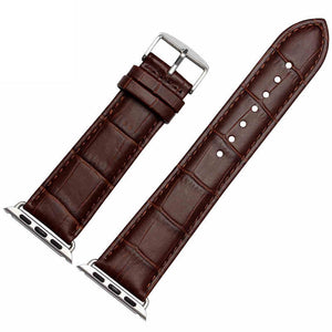 Thormax Crocodile Leather Watch Strap For Apple Watch Series 3/2/1 Genuine Leather Bracelet 42Mm 38Mm Replacement Watch Strap - Goamiroo