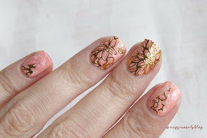 Embossed Blooming Flower 3D Nail Stickers Gold Adhesive Transfer Sticker Manicure - Goamiroo Store