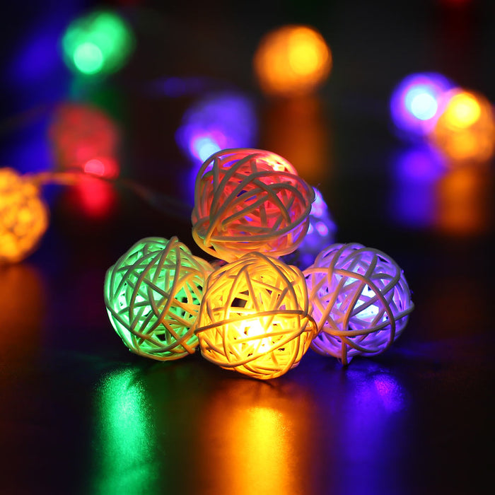 20pcs String Lights White Ball Lantern Xmas