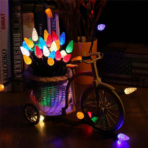 Faceted C5 Led Christmas Lights 70 Led 17.25Ft Mini String Lights 120V Ul Certified - Goamiroo Store