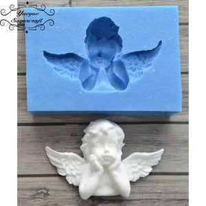 Yueyue Sugarcraft Newest Angel Frame silicone mold fondant mold cake decorating tools chocolate gumpaste mold