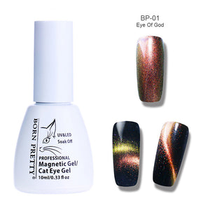 Holographic Chameleon Cat Eye Nail Gel 5Ml Magnetic Soak Off Uv Gel Manicure Nail Art Varnish Black Base Needed - Goamiroo Store