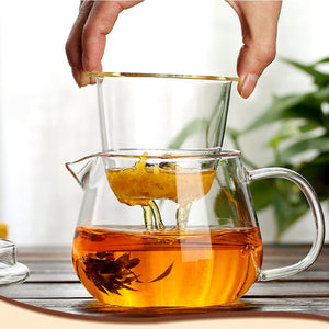 Cute Penguin All-Glass Heatable Tea Pot Blooming Tea Set Utensil Health Tea Time Maker - Goamiroo Store