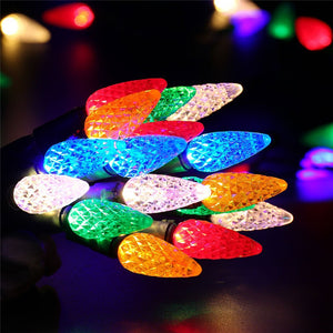 Faceted C6 Led Christmas Lights 33Ft 100 Led Bulbs - Goamiroo Store