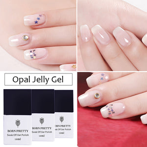 1 Bottle 10Ml Opal Jelly Gel White Soak Off Manicure Nail Art Uv Gel Polish - Goamiroo Store