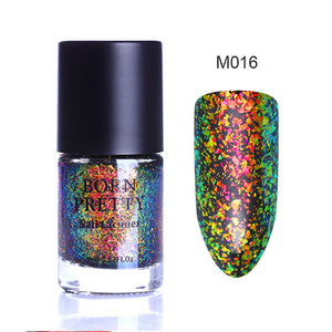 Chameleon Nail Polish 9ml Gold Violet Galaxy Glitter Sunset Glow Sequins Nail Lacquer Varnish (Black Base Needed)-GoAmiroo Store