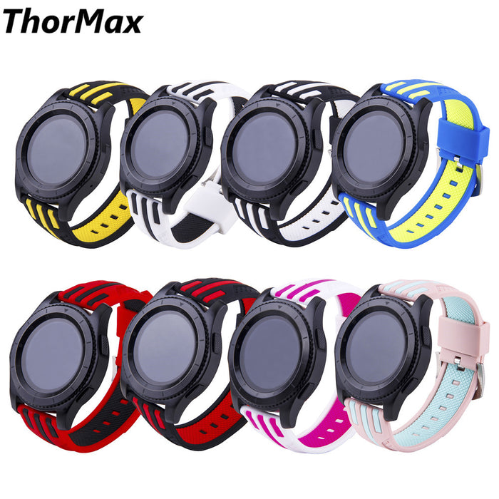Soft Sport Silicone Watchband Strap men/women for Samsung Gear S3 Frontier / Classic Watch Band replacement 22mm bracele