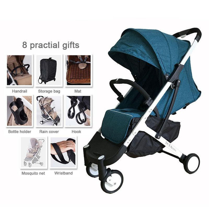 Lightweight Stroller With Gifts Yoyaplus Style Baby Carriage Can Sit Lie Folding Stroller Ultra-Light Portable On Plane