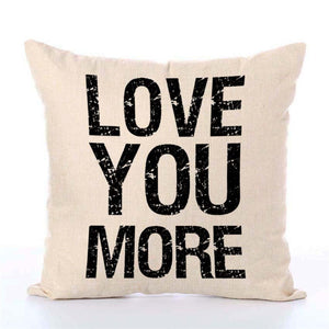 Letters Hot Printed Linen Pillow Cover Letters Graphic Series Of Fashion Comfortable Home Square Pillow - Goamiroo Store