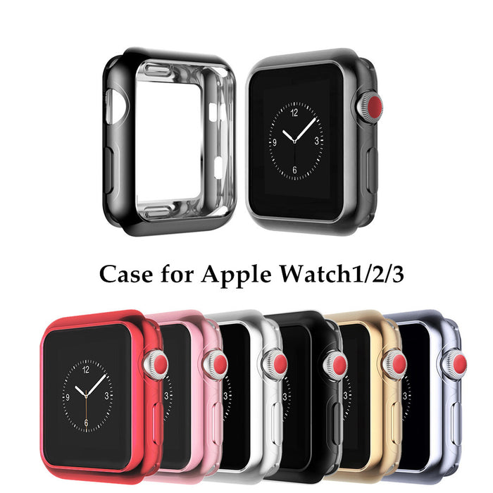 ThorMax For Apple Watch Case Soft TPU Scratch-resistant Flexible Case Lightweight Protective Cover iWatch Accessories
