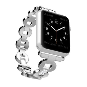 316L Stainless Steel Oval Shape Shine Bling Watchband with Diamond Bracelet band For Apple Watch Series 1/ 2 Series 3 38/42mm-GoAmiroo Store