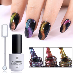 Chameleon Cat Eye Nail Gel Varnish 3D Magnetic Gel Soak Off Uv Gel Polish With Magnet Board - Goamiroo Store