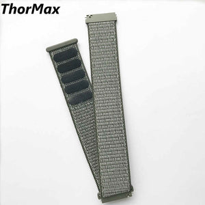 Thormax Nylon Loop Watchband Buckle Strap For Samsung Gear S3 Classic Frontier Quick Release Watch Band Wrist Bracelet 22Mm - Goamiroo Store