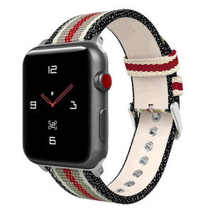 Sport Leisure Watchband Nylon With Leather Strap For Apple Watch Series1/2/3 Woven Oxford Bracelet 38/42Mm Thormax - Goamiroo Store