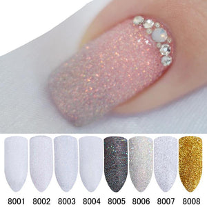 1g/Box Holographic Nail Glitter Powder Shining Sugar Nail Glitter Dust Powders Set-GoAmiroo Store
