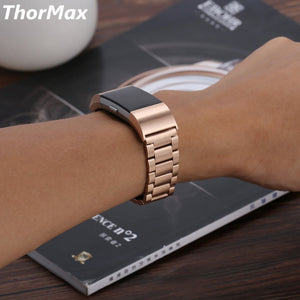 Thormax For Fitbit Charge 2 Stainless Steel Replacement Accessory Metal Bands Premium Stainless Steel Watch Band Strap - Goamiroo Store
