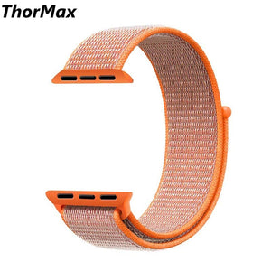 Thormax Sport Loop Band For Apple Watch Series 3 2 1 Strap For Iwatch Double-Layer Woven Nylon Breathabe Smartwatch Band Ny1004 - Goamiroo