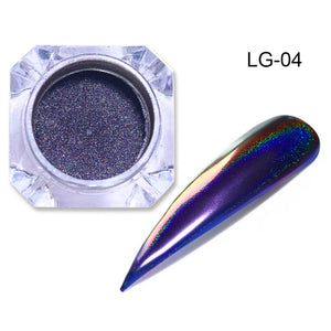 0.2g Peacock Holographic Chameleon Nail Glitter Powder Mirror Holo Laser-GoAmiroo Store