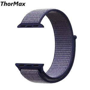 Thormax Sport Woven Nylon Loop Strap For Apple Watch Band Wrist Braclet Belt Fabric-Like Nylon Band For Iwatch1 2 3 Ny1008 - Goamiroo Store