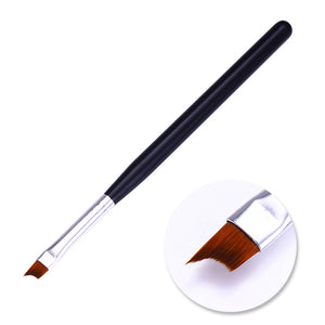 French Tip Nail Brush Acrylic Uv Gel Drawing Painting Pen Black Handle Design Manicure - Goamiroo Store