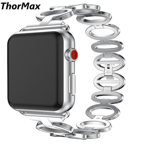 Thomax 316L Stainless Steel Goose Egg Style Watchband Bracelet Band For Apple Watch Series 1 And Series 2 Series 3 38/42Mm - Goamiroo Store