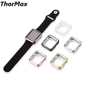 THORMAX For Apple Watch Series 2/3 TPU Scratch-resistant Flexible Soft Case Slim Lightweight Protective Bumper Cover for iWatch