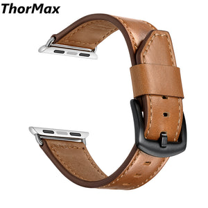 For Apple Watch Classic Genuine Leather Triangle Tail Bracelet Series 1/2/3 Watchband Replacement Strap 38/42Mm Thormax - Goamiroo Store