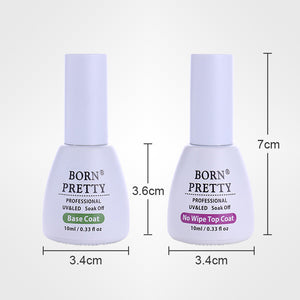 Nail Base Coat No Wipe Top Coat 10Ml Soak Off Gel For Uv Led Manicure Nail Art Gel Polish - Goamiroo Store