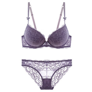 42c7cf613b ... Women Underwear Set Cotton Sexy Bra And Panty Sets Plus Size Purple  Lace Lingerie. Previous  Next
