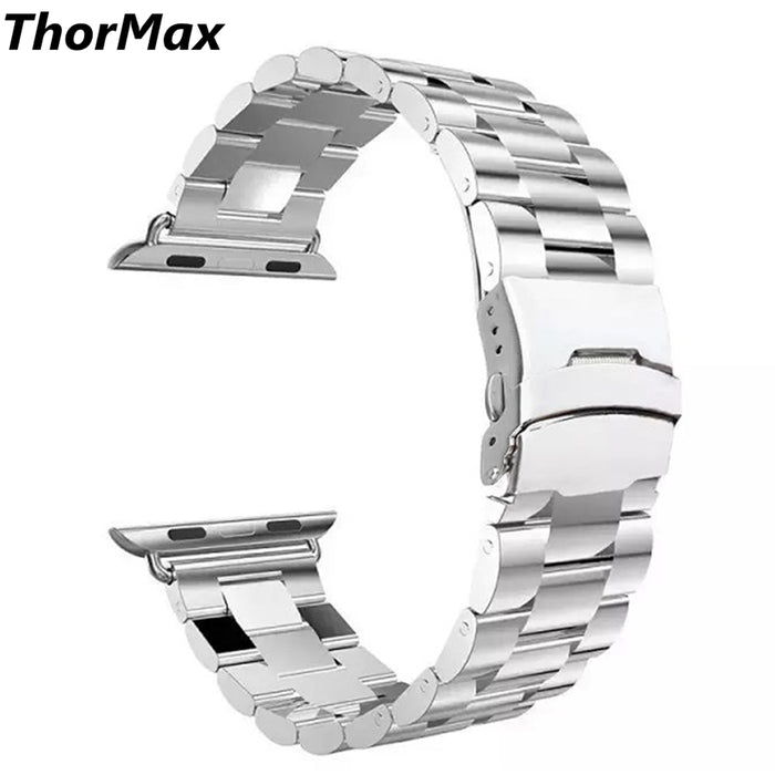 ThorMax new design black/ silver stainless steel watchband bracelet for apple watch 38mm/42mm
