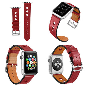 Thormax 2018 Cow Leather Watchband For Apple Watch Band Series 3/2/1 Genuine Leather Bracelet 42Mm 38Mm Strap For Iwatch Band - Goamiroo