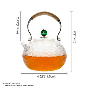 700ml Cute Clear Heat Resistant Glass Teapot-GoAmiroo Store