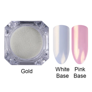 1 Box Mermaid Nail Glitter Powder Pretty Gradient Shimmer Glitters Pigment Nail Powder Dust Lasers-GoAmiroo Store