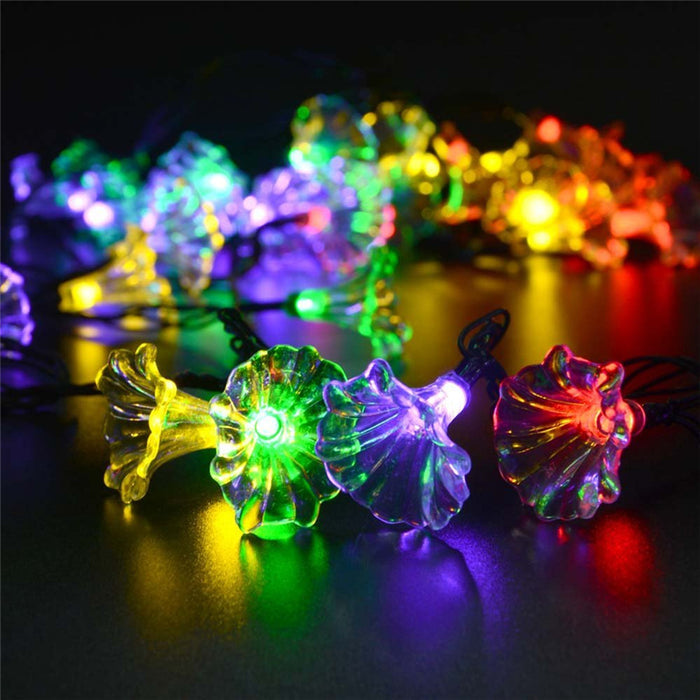 Christmas Flower Solar Lamp Light String 16ft 30LED