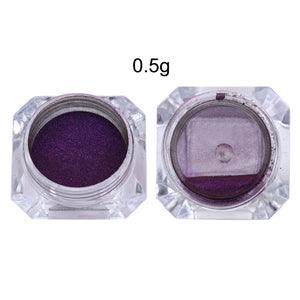 Chameleon Mirror Nail Glitters Powder 0.5G Chrome Pigment Manicure Black Base Color Needed - Goamiroo Store
