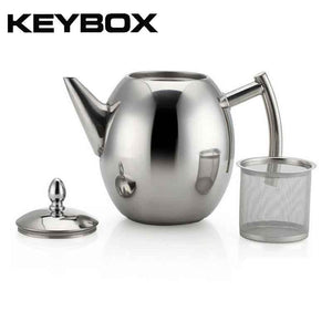 1000ML/1500ML Durable Teapot Sliver Cold Water Pot Kettle With Strainer-GoAmiroo Store