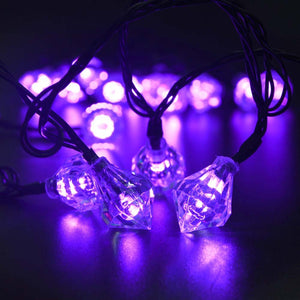 20Ft 20Led Diamond Solar Fairy String Lights Decorative Lighting - Goamiroo Store