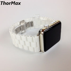 Ceramic Watchband For Apple Watch Bracelet Clasp Strap 38Mm/42Mm Fashion Replacements Band Thormax - Goamiroo Store