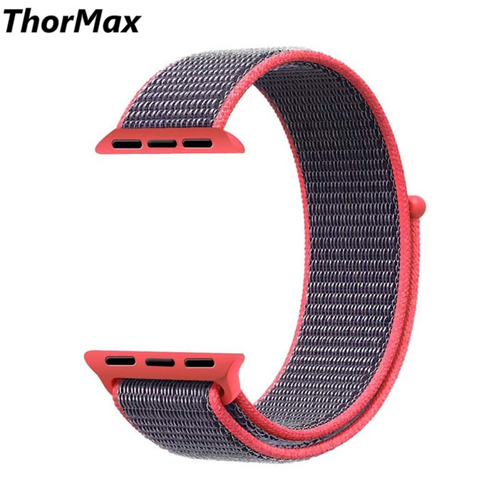 THORMAX Woven Nylon strap band For Apple Watch band 42 mm 38 mm wrist bracelet watchband for iwatch band series 1 2 3 NY1005