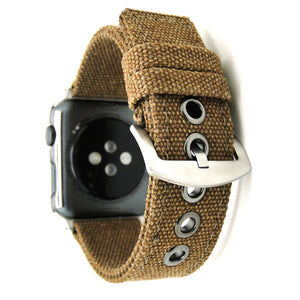For Iwatch Band Canvas With Stainless Steel Buckle For Apple Watch Series 1 And Series 2 Series3 Bracelet 38/42Mm New Colorful - Goamiroo