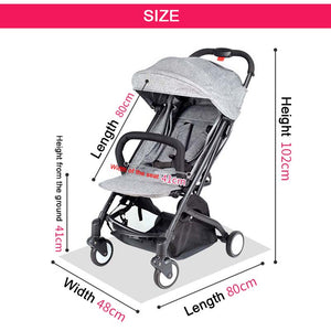 Protable Stroller Baby Carriage Can Sit&lie Folding Stroller Ultra-Light Kids Travel Yoya Stroller Can Put On Airplane - Goamiroo Store