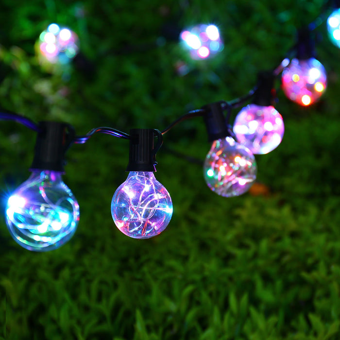 25Ft G40 Bulb Globe String Lights with Clear Bulbs Colorful
