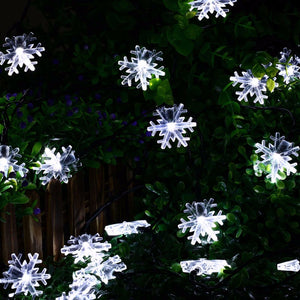 20 LED Snow Flake Flowers Solar String-GoAmiroo Store