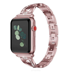 Women Watch band for Apple Watch Bands 38mm/42mm/40mm/44mm diamond Stainless Steel Strap for iwatch series 4 3 2 Bracelet