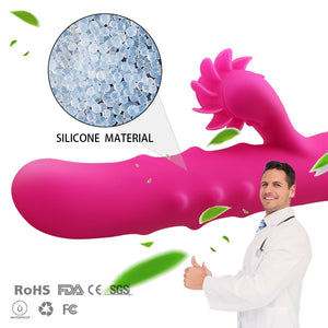 2018 Tongue Licking Roll Beads G Spot Vibrator, Clitoris Stimulator, Powerful Female Multi-Speed Masturbation Sex Toys for Women-GoAmiroo Store