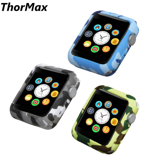 Watch Protect Case Soft Silicone frame Case Cover For Apple Watch series 1/2/3 iWatch 38 /42mm Watch Accessories