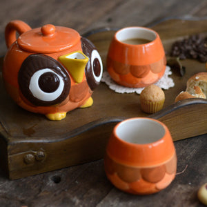 Hand Painted Cute Owl Series Ceramic Coffeware Sets Teapot Cup Set - Goamiroo Store