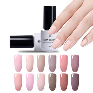 Nude Series Nail Uv Gel 5Ml Soak Off Polish Uv Glue Manicure Nail Art Varnish Tool - Goamiroo Store