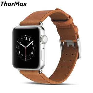Thormax For Iwatch Genuine Leather Retro Band For Apple Watch Series 1/2/3 Watchband Replacement Strap Men/women 38/42Mm - Goamiroo Store