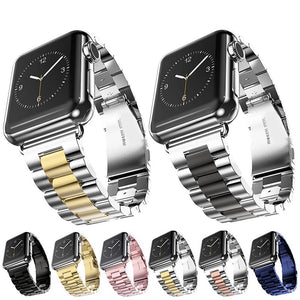 Luxury Stainless Steel strap For Apple Watch band 42mm 38mm 44mm 40mm Bracelet pulseira band for iwatch series 4 3 2 1